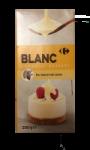 Chocolat blanc pour dessert Carrefour