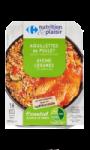 Aiguillettes de Poulet Avoine Légumes et Lentilles Carrefour Nutrition