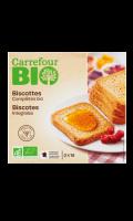 Biscottes bio complètes Carrefour Bio