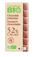 Chocolat bio pâtissier Carrefour Bio