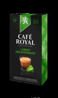 Café Royal compatibles système Nespresso®* Lungo Decaffeinato x10 capsules