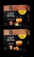 Capsules de café caramel ou noisettes x12 Café Royal