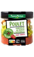 Poulet, conchiglie au basilic, mozzarella, sauce tomate Fleury Michon