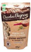 Muesli Bio pépites & flocons graines anciennes Charles Vignon