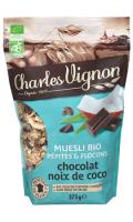 Muesli Bio pépites & flocons chocolat noix de coco Charles Vignon