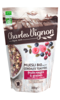 Muesli Bio céréales toastées fruits rouges & graines Charles Vignon