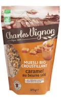 Muesli Bio croustillant caramel beurre salé Charles Vignon