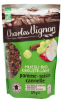 Muesli Bio croustillant pomme raisin cannelle sans gluten Charles Vignon