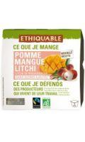 Compote pomme mangue litchi bio ETHIQUABLE
