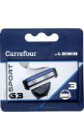 Recharges 4 lames Sport G3 Carrefour