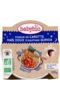 Plat bébé bio dès 12 mois/menu bonne nuit BABYBIO