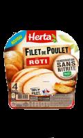 Herta Filet Poulet Rôti conservation sans nitrite x4