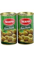 Olives vertes Manzanilla farce d'anchois SERPIS