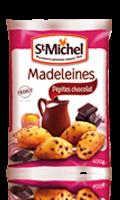 Madeleines aux pépites de chocolat St Michel
