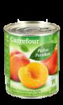 Fruits au sirop pêches demi-fruits Carrefour