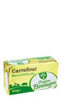 Beurre demi-sel Carrefour
