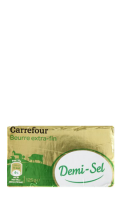 Beurre extra-fin demi-sel Carrefour