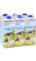 Lait demi-écrémé de montagne Carrefour