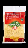 Emmental râpé lait cru Carrefour