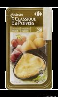 Fromage à raclette nature/3 poivres Carrefour