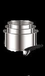 Casserole Ingenio 16-18-20 Inox + 1 Poignée L9419502 TEFAL