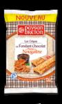 Crêpes fourrées au fondant chocolat et pépites de nougatine Paysan Breton