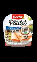 Blanc Poulet -25% sel sans nitrite x4 tranches Herta