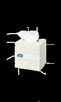 Boîte cube de 100 mouchoirs 2 plis ouate extra douche blanche Tork