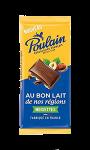 Chocolat Au bon lait de nos régions noisettes Poulain