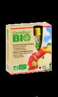Gourdes compote pomme fraises sans sucres ajoutés Carrefour Bio