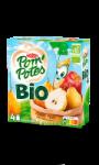 Compotes Pom'potes pomme & poire bio sans sucres ajoutés Materne
