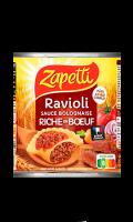 Ravioli sauce Bolognaise riche en boeuf au blé complet Zapetti