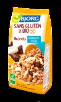 Biscuits granola chocolat coco sans gluten et bio Bjorg
