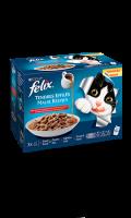 Friandises pour chat adulte Tendre efillés au bœuf, poulet & agneau Felix