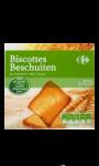 Biscottes sans sel ajouté Carrefour