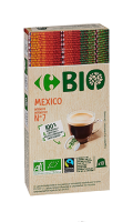 Capsules de café Mexico intensité 7 x10 Carrefour Bio