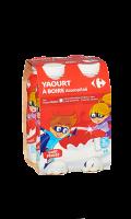 Yaourts à boire fraise 4x180g Carrefour Kids