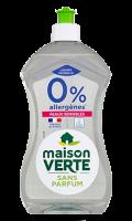 Vaisselle main 0% d'allergènes Maison Verte