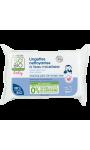 Lingettes nettoyantes bébé x70 à l'eau micellaire So'bio Etic
