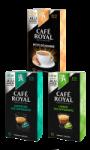 Capsules de café en aluminium Petit Déjeuner, Lungo décaféiné ou Decaffeinato Café Royal