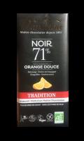 Chocolat noir 71% Huile essentielle Orange douce Chocolat Dardenne