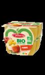 Compotes de pomme bio sans sucres ajoutés Materne