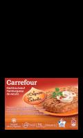 Steaks hachés de bœuf à l'oignon Carrefour
