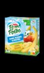 Compotes gourdes pomme banane sans sucres ajoutés Pom'potes Materne