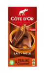 Tablette de chocolat Lait Praliné et Caramel Côte d'Or