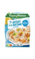 Plat cuisiné saint jacques à la bretonne et riz basmati Fleury Michon