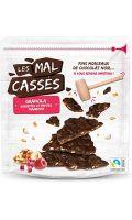 Granola noisettes et pepites framboises Les Mal Cassés