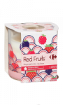 Bougie parfum fruits rouges Carrefour