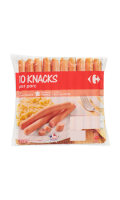 Knacks pur porc Carrefour