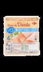 Blanc de dinde-25% de sel Carrefour